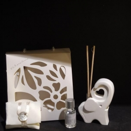 diffusore elefante in gesso con kit essenza